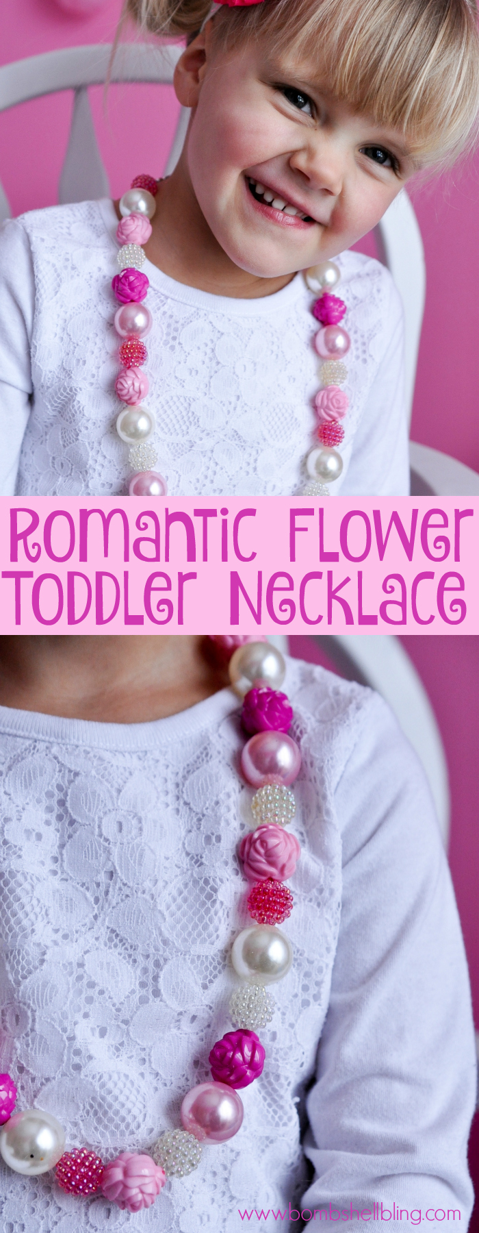 Romantic Flower Toddler Necklace DIY Tutorial