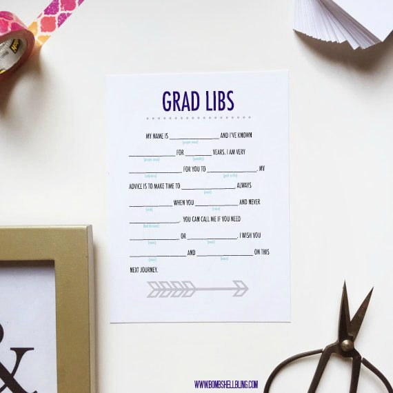 This fun and free grad libs printable is PERFECT for graduation parties and events!  Print them out, hand out the pencils, and let the fun begin!