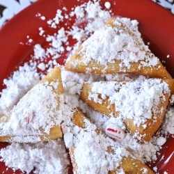 Candy Cane Beignets Recipe