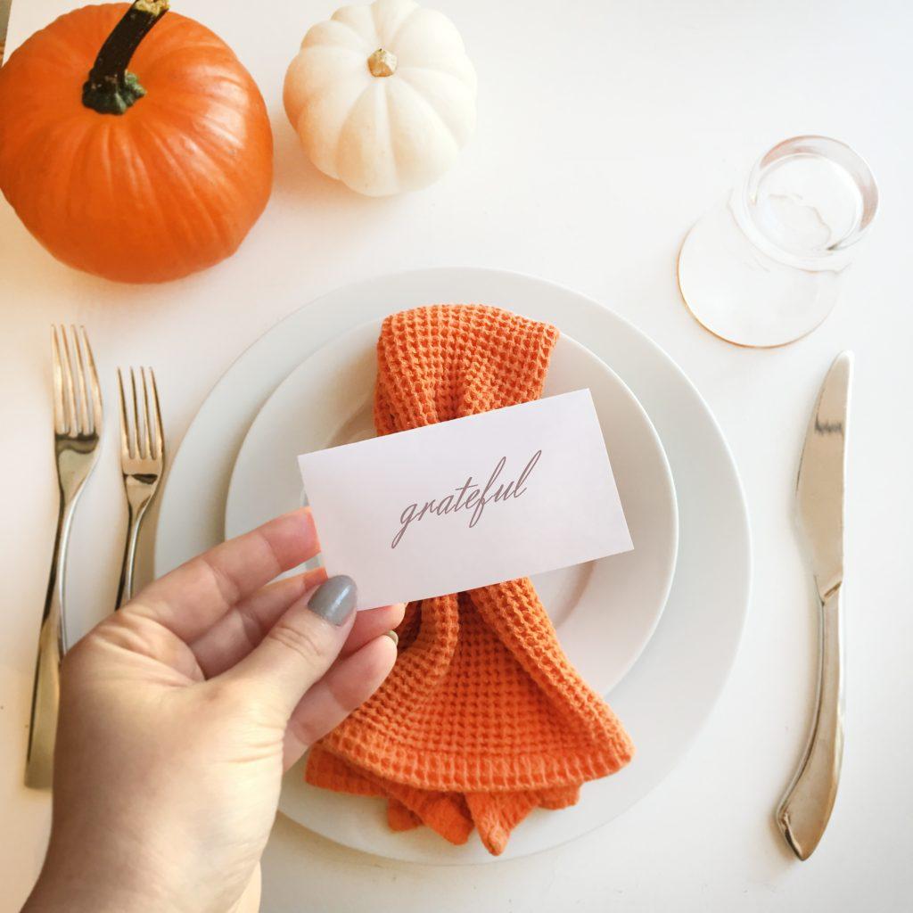 Family Fun Printable Thanksgiving Placecards