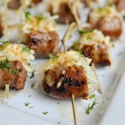 Stuffed Sausage Skewer Appetizer Recipe