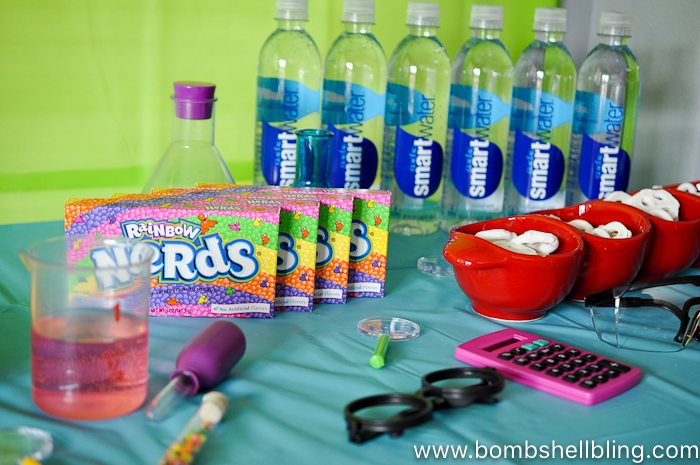 Nerds candy on nerdy thirty party table