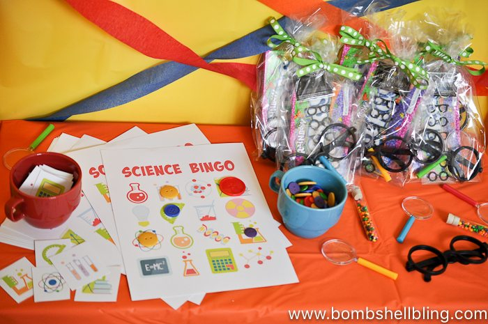 Nerdy thirty science bingo game on table
