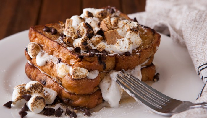 Stuffed S'mores French Toast