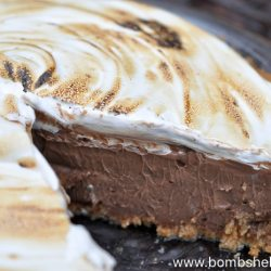 Decadent & Dark Chocolate S'mores Pie