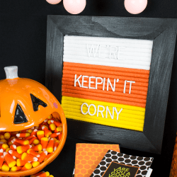 Handmade Felt Letter Board in Candy Corn Colors DIY