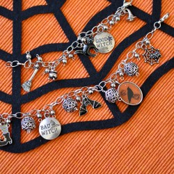 Witchy Halloween Charm Bracelet
