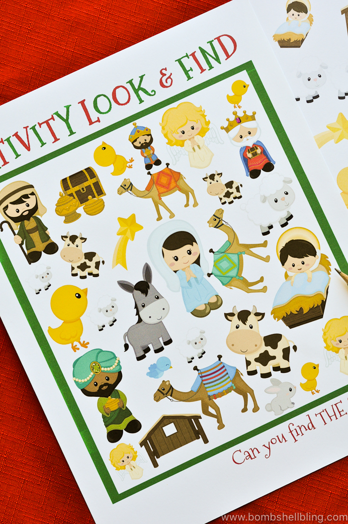 graphic relating to Printable Nativity identified as Nativity Overall look and Identify Printable
