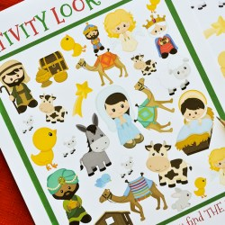 Nativity Look and Find Printable