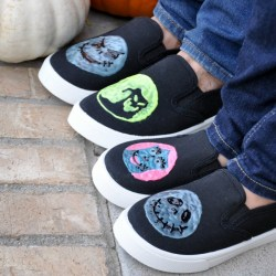 Glow-in-the-Dark Nightmare Before Christmas Shoes