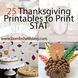 25+ Thanksgiving Printables to Print STAT