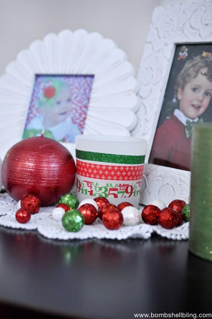 Christmas Washi Tape Votives