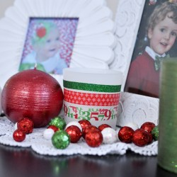Christmas Washi Tape Votives