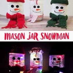 Mason Jar Snowman