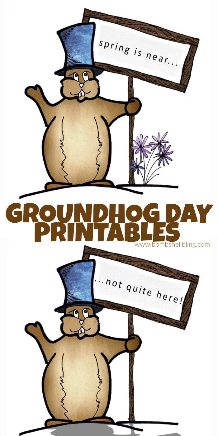 graphic regarding Ground Hog Day Printable named Groundhog Working day Printable - Cost-free in the direction of print and employ for a