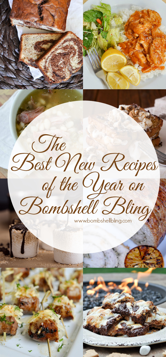These are the top new recipe posts of the year on Bombshell Bling. From appetizers to dessert, these recipes will have you covered!