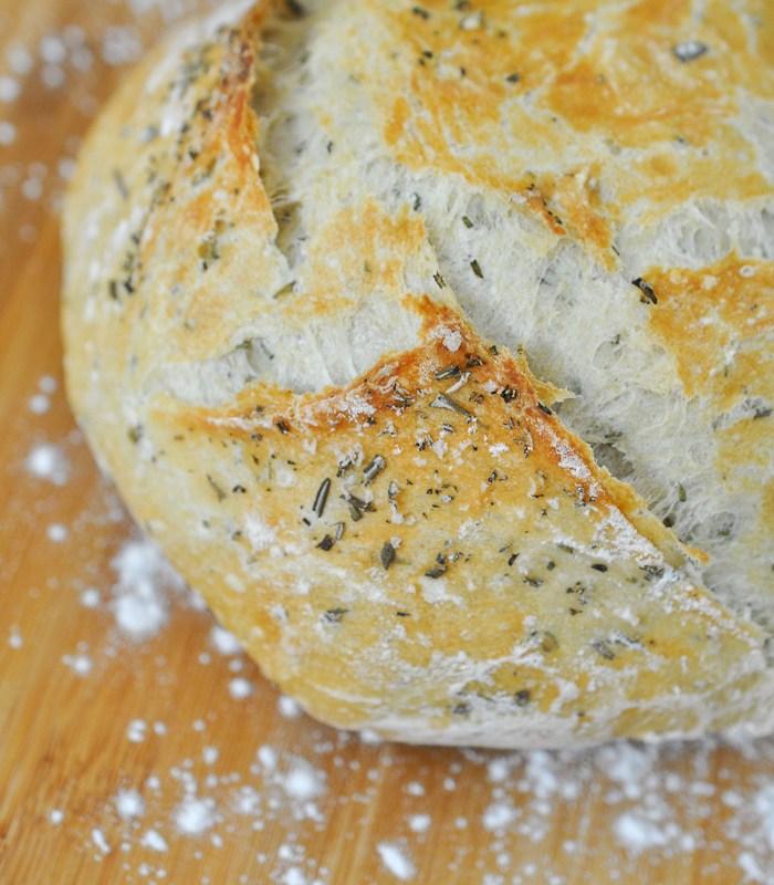 No-Knead Rosemary Artisan Bread