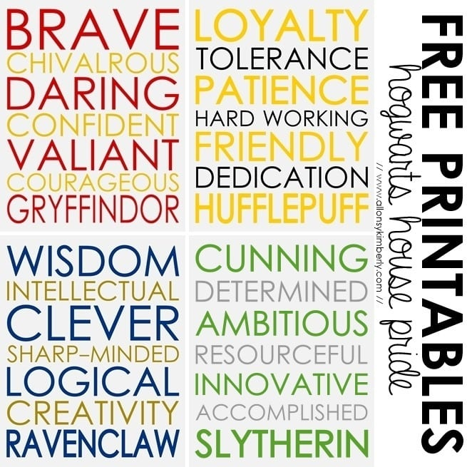 graphic relating to Hogwarts Sign Printable identified as 25 Ideal Harry Potter Printables - Gathered via Bombs