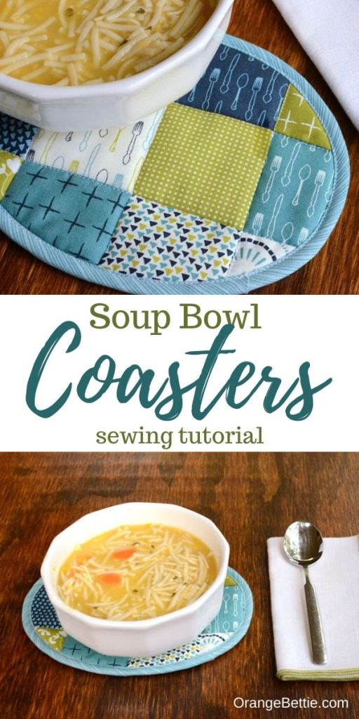 There's no better lunch on a cool fall day than a warm bowl of soup!  Protect your table from a warm bowl of soup with this handy little soup bowl coaster.