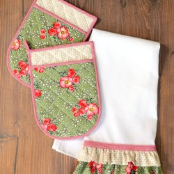 How to Make a Ruffled Tea Towel – Sewing Tutorial