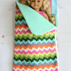 "18"" Doll Sleeping Bag and Pillow Set – Sewing Tutorial"