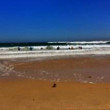 Peniche heading into the surf