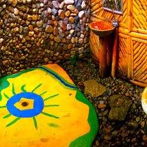 Bamboo Hut Outdoor Bathroom