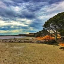A dried salt lake bed