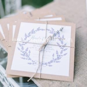 Kraft Lavender Davetiye