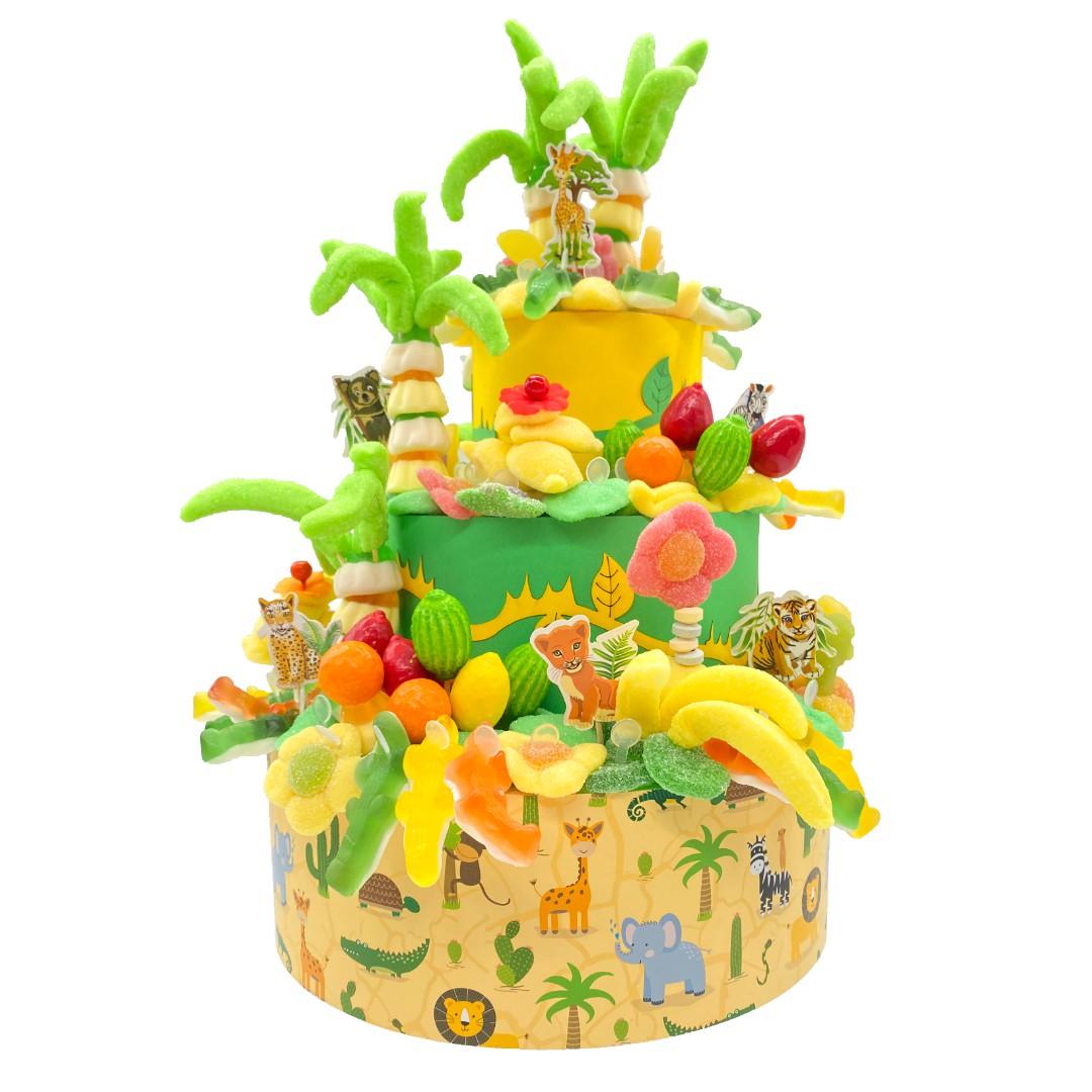 piece montee jungle en bonbons