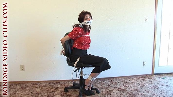 Tutor Natasha Flade Chair Tied  OTM Gagged in Students