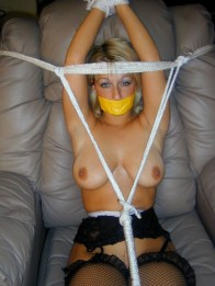 Bedroom Bondage Action with submissive Housewives