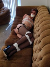 Cute Amateur Girlfriend gagged and tightly tied up