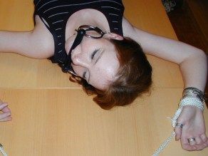 Cute young Girlfriend bound and gagged at Home