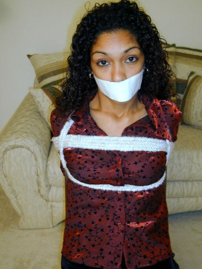 Horny Housewives bound gagged and ready for Spanking