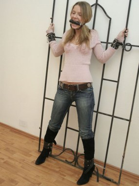Horny young Girlfriend gets tied up and gagged at Home