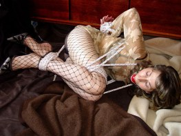 Hot Wife from Slovakia gets tied up and Ball gagged