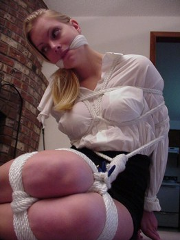 Sexy Girls next Door bound and gagged at Home