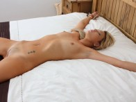 Sexy Housewife restrained naked in Bedroom