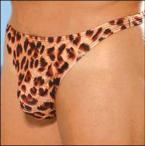 Men's Leopard Thong