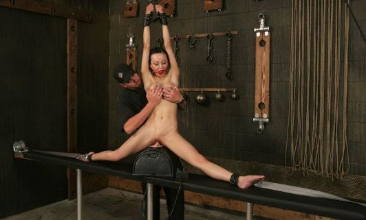 Awesome Asian Slave Spread on the Sybian and Punished in the Dungeon