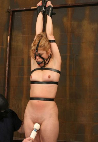 Awesome Blond Slave Gets Bound, Harnessed and Degraded in the Dungeon