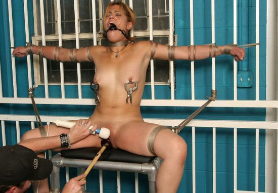 Awesome Slave Gets Restrained, Spread and Tortured Hard in the Dungeon