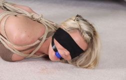 Hot Blonde Gets Ball Gagged, Blindfolded and Hogtied by Her Boyfriend