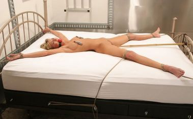 Hot Mature Slave Gets Restrained, Ball Gagged and Penetrated Hard