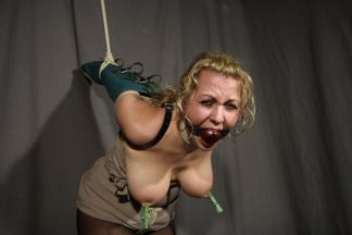 Kinky Blond Slave Gets Bound, Blindfolded and Tortured for Discipline