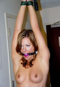 Kinky Housewife Gets Ball Gagged and Bound by Husband at Home for Fun