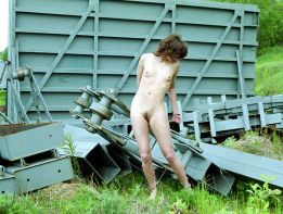 Pretty Amateur Gets Chained and Restrained Outside for Punishment