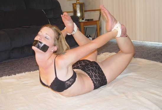Pretty Girlfriend Gets Tape Gagged and Tightly Bound by Boyfriend