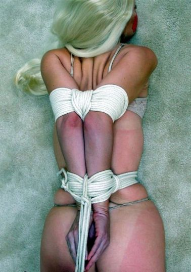 Pretty Young Blonde Tape Gagged and Hogtied at Home for Punishment